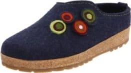 Haflinger Kanon, Unisex-Erwachsene Pantoffeln, Blau