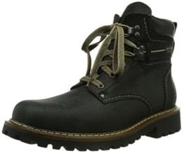 Herren Combat Boots, Schwarz