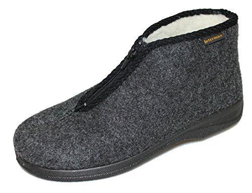 Intermax Herren Hausschuh mit Reißverschluß | Schuhe für