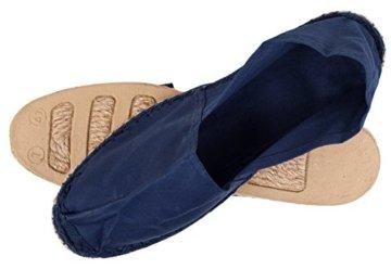 Sommerlatschen Espadrilles, klassisch, dunkelblau