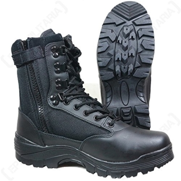 Tactical Boot mit YKK-Zipper schwarz